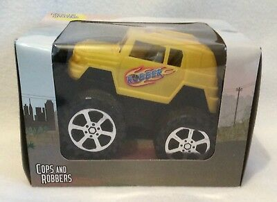 Cops And Robbers - Robber Monster Truck - Yellow - Brand New