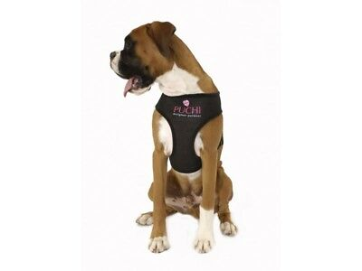 PUCHI  Soft Mesh Breathable Dog Puppy Pet Harness All Sizes BLACK PURPLE