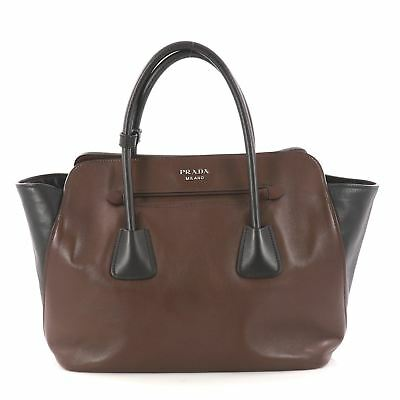 PRADA CUIR CONVERTIBLE Shopping Tote Soft Calfskin Large -  685.00 ... 8f71fb1232