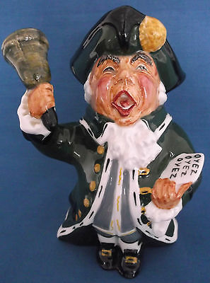 Roy Kirkham Pottery Town Crier Toby Jug Staffordshire England Ex Condition