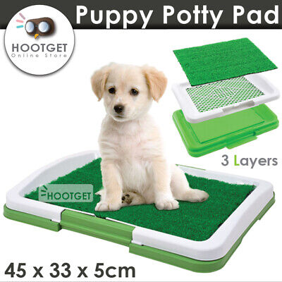 Grass Indoor Dog Puppy Pet Potty Training Toilet Portable Loo Clean Pad Tray
