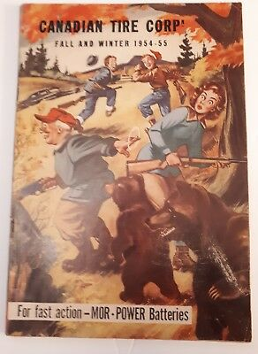 "Rare Canadian ""canadian Tire Corp. 1954-55 Fall & Winter"" Catalogue-Great Scene"