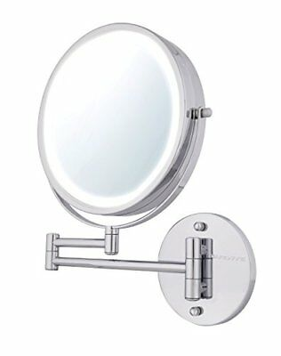 Ovente Wall Mount Makeup Mirror, Battery Operated LED Lighted
