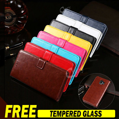 Samsung Galaxy A20 A30 A50 A70 A8 J8 2018 Wallet Leather Flip Stand Case Cover