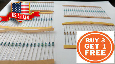1/4w Resistor 1% 20 Piece Metal Film Resistor U PICK USA SELLER