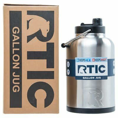 RTIC® 1 Gallon Water Jug / Bottle, Insulated Stainless Steel Tumbler Rambler