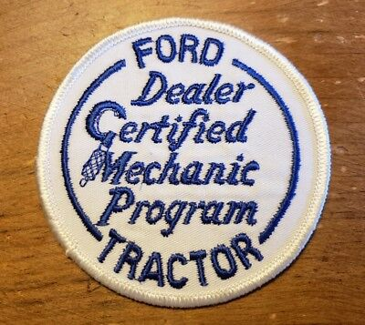 Ford Tractor Dealer Certified Mechanic Program Patch 3.5 Inches Nos Rare!!!