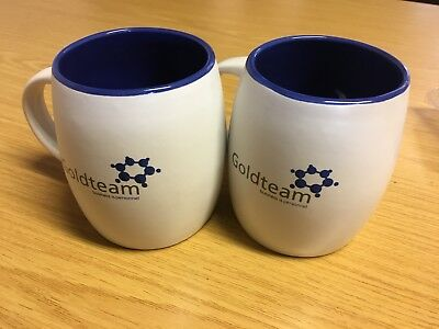 10 White Company Logo And Name Printed Double Coated Mugs
