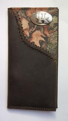 ZEP-PRO Texas Tech Red Raiders roper Leather Fence Row Camo Wallet TIN GIFT BOX