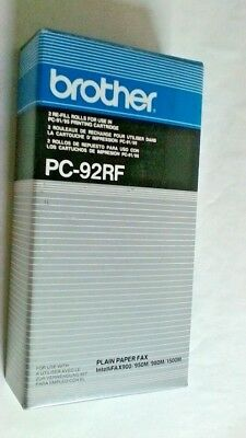 Original Brother PC-92RF Fax Cartridges, 2 Pack IntelliFax 900 950M 1500M 1000P