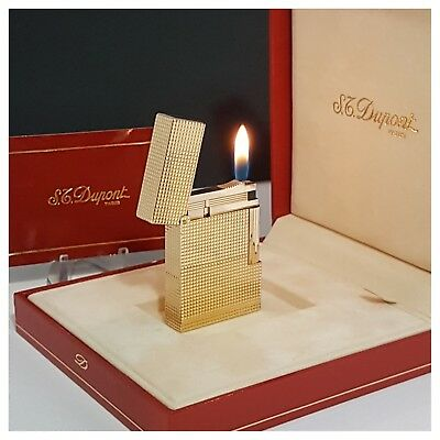 Briquet gaz * St Dupont Paris + box * L-2 Gatsby -Lighter-Feuerzeug-Accendino