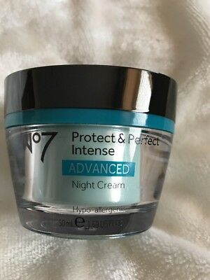Boots No 7 Protect and Perfect Intense Advanced Night Cream 50ml. New.