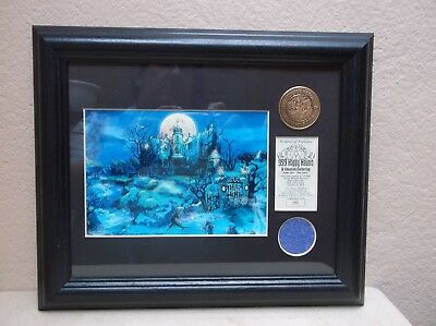 Disney Haunted Mansion Wallpaper And Coin Set 2004 A Ghoulish Gathering Le250