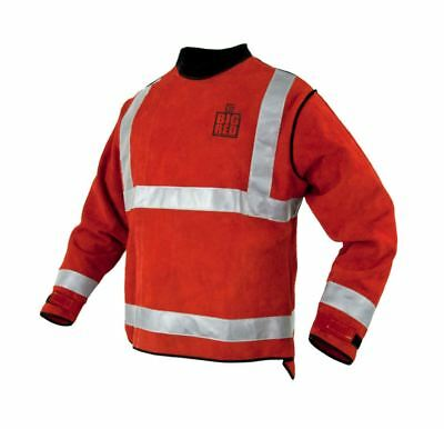 Lg BIG RED® High Visibility Leather Welders Jacket BIG RED® Hi Viz FREE POST AU