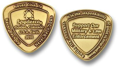 Spyderco Spydercoin 2018 Collectible Support Military & Law Enforcement COIN2018