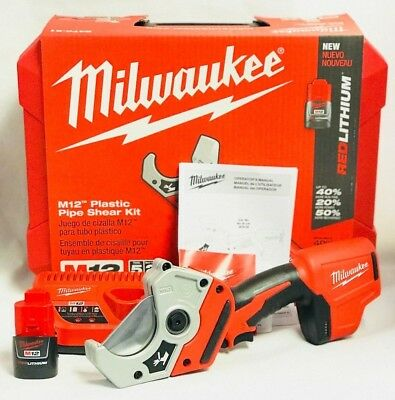 Milwaukee 2470-21 M12 12V Cordless Pipe Shears Cutters Kit - Brand New in Box