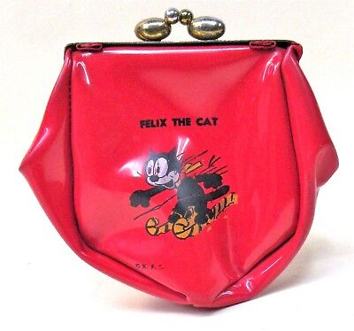 1940's to 1950's FELIX THE CAT King Features large vinyl coin purse