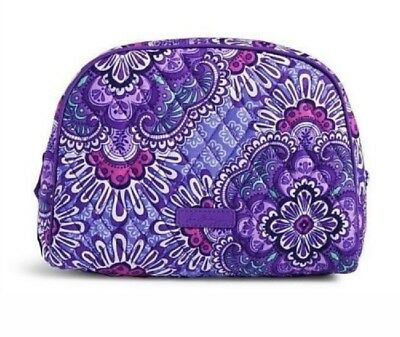 VERA BRADLEY~Large Zip Cosmetic Bag~LILAC TAPESTRY~Brand New with Tag!