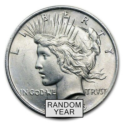 1922-1925 BU 90% Silver Peace Dollar - USA Made Random Year/Mint Bullion Coin