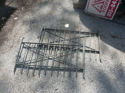33 wide by 21 Antique Vintage Wrought Iron Window Gate / Grate Pair Pick Up Only