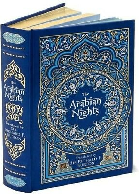 The Arabian Nights 1001 Illustrated Hardcover Book Leatherbound Leather Bound