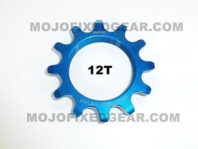 MOJO 12T FIXED GEAR COG BLACK  ANODIZED Cro-Mo TRACK 12 TOOTH 1//8 INCH CNC