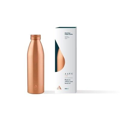 Aayu Home 800ml 100% Seamless Pure Copper Water Bottle