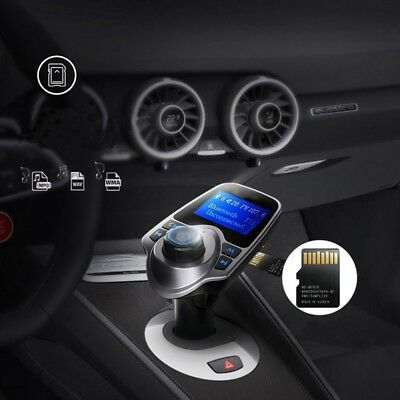 New Wireless LCD Bluetooth Car Kit MP3 FM Transmitter AUX USB Charger Hands N2B4