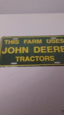 John Deere This Farm Uses John Deere License Plate New In plastic Fr Ship