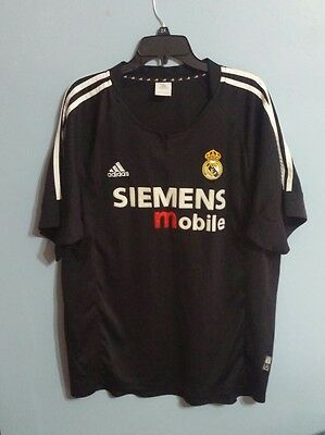 uk availability 17e72 9422a REAL MADRID ADIDAS Siemens Mobile Soccer Futbol Jersey!! Size Large!!