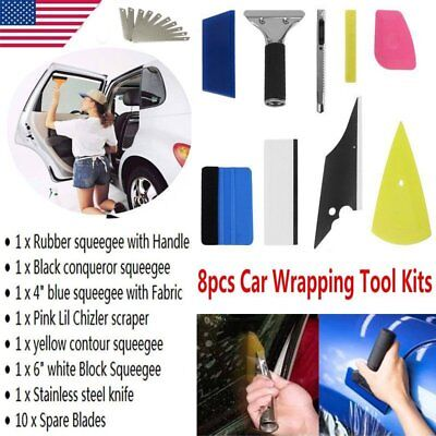 8in1 Squeegee Car Window Tinting Auto Film Install Wrapping Applicator Tools HL1