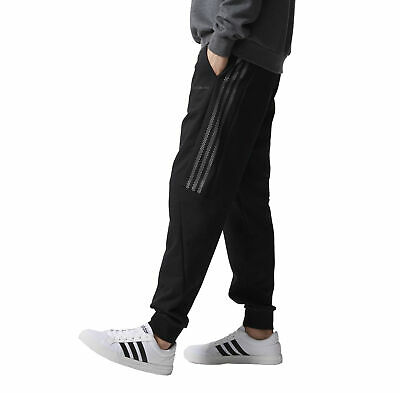 adidas Neo Men's Knit Track Suit Pants Training Gym Fitness Trackies - Black