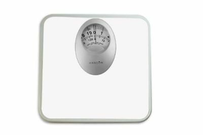 Hanson White mechanical Bathroom Scale With Magnified Display Capacity 120KG H61