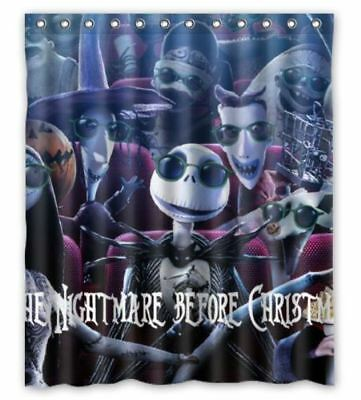 New The Nightmare Before Christmas Shower Curtain One Side Size 60x72 Inch