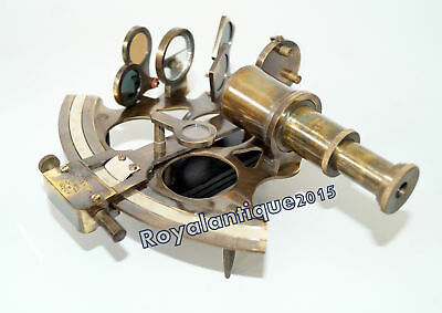Nautical Solid Antique Finish Sextant Working Instrument Astrolabe Marine Gift