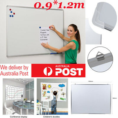 900mmx1200mm Office Magnetic Whiteboard Whiteboards White Board EXPRESS AU SHIP