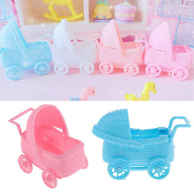 12x Cute Plastic Baby Carriage Baby Shower Christening Baptism Party