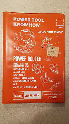 Sears Craftsman Power Tool #9-2949 Know How Manual Power Router 1977 Edition