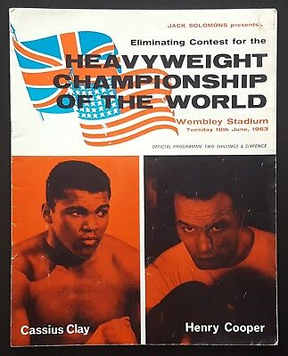 1963 CASSIUS CLAY v HENRY COOPER on-site boxing programme Muhammad Ali