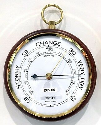 FCC Presision 1022W Wood Mounted Barometer