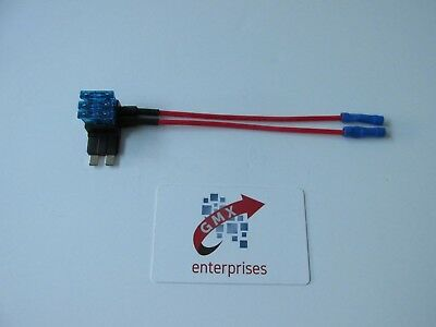 1 x piggy back fuse add a circuit twin live output standard blade fuse holder