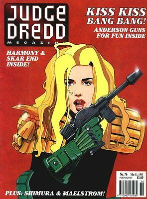 Judge Dredd Megazine (Vol. 2) No. 76 Mar 1995 Judge Anderson, Harmony, Fine