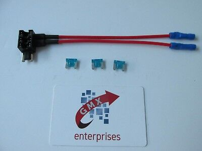 1 x piggy back fusetwin wire output add a circuit micro blade fuse holder