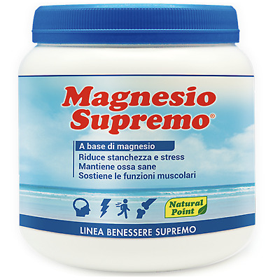 Magnesio Supremo NATURAL POINT 300 gr Anti-estrés con Mag Citrato y