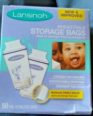 1 box of 50 count!! Lansinoh Breastmilk Pre-Sterilized Storage Bags