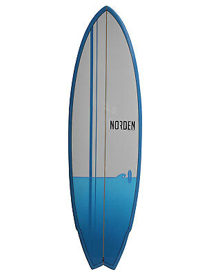 "Norden Surfboards First Ride Fish 6'4"" Blue Wellenreitboard Surf Board"
