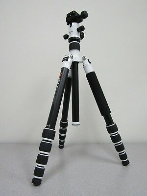 MeFOTO RoadTrip Aluminum Travel Tripod Kit (White) - Max Load - 17.6lbs