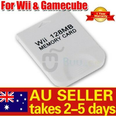 128 MB Memory Card for Nintendo Wi i Gamecube 128MB AU STOCK