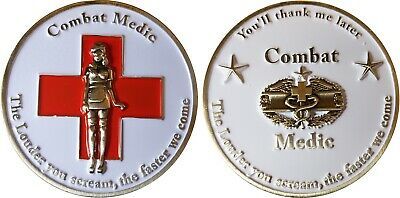 """Combat Medic Challenge coin """"The Louder you scream"""" 23"""