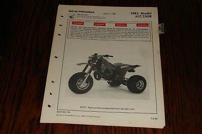 1985  HONDA  ATC250R  Set-up Instructions Manual Genuine Honda Dealer OEM